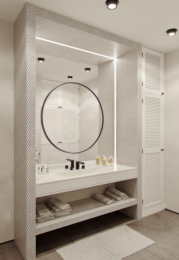 illuminare lo specchio bagno