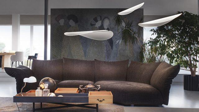 Lampada moderna Diphy, il petalo trasparente