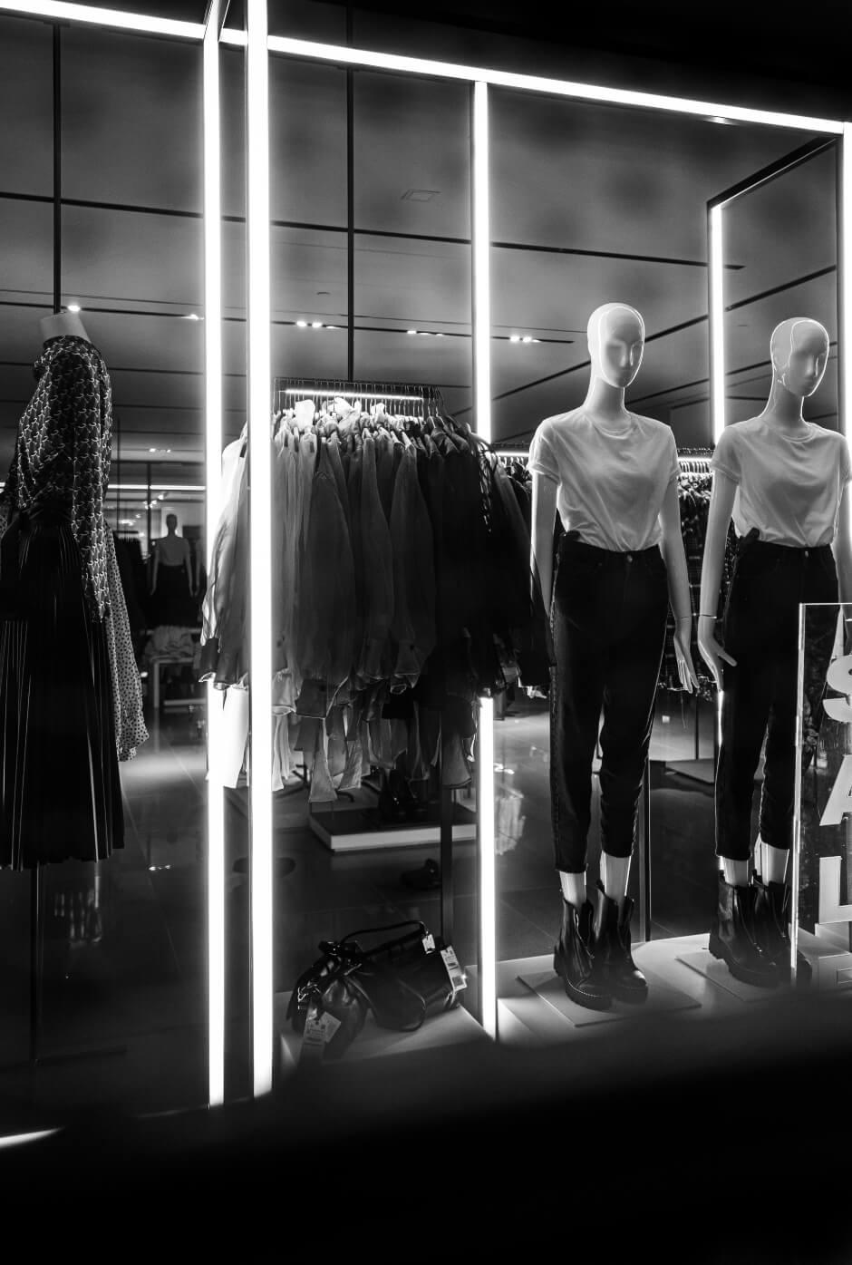 illuminare le boutique